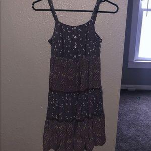women purple sun dress